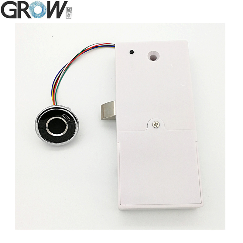 GROW G15 New Design Round Fingerprint Electric Cabinet Drawer Lock For Office Home Bank