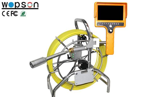 Pipe inspection camera with 7 inch hand hold monitor