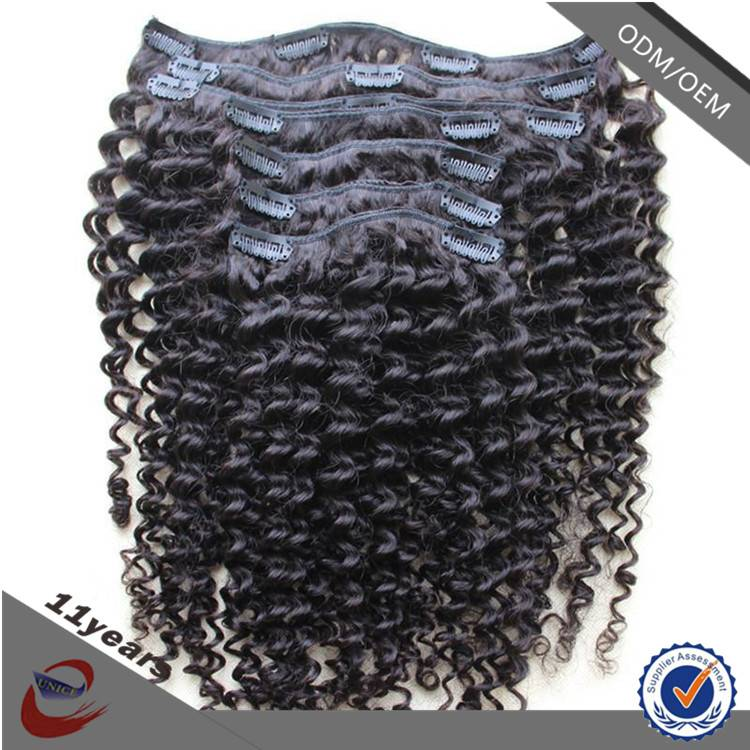 High Quality Guaranteed Afro Kinky Curly Clip in Hair Extensions for African American