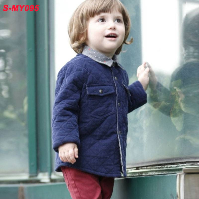 Winter woolen blue children clothing boys wear