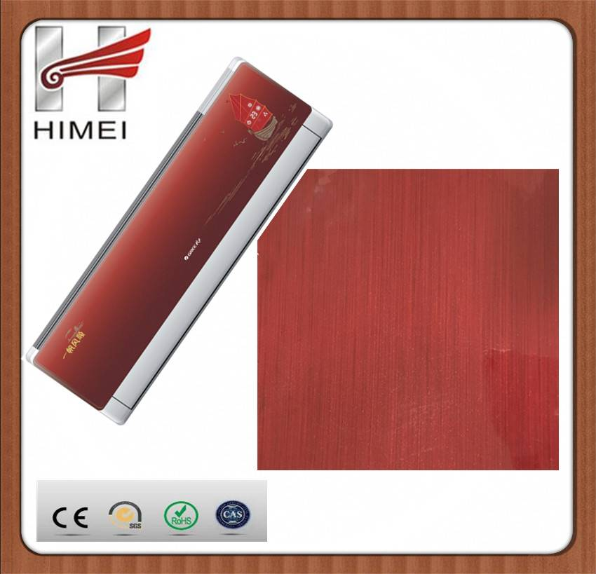 VCM colored film steel sheet for air conditioner