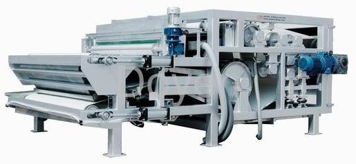 Belt press for municipal sludge treatment