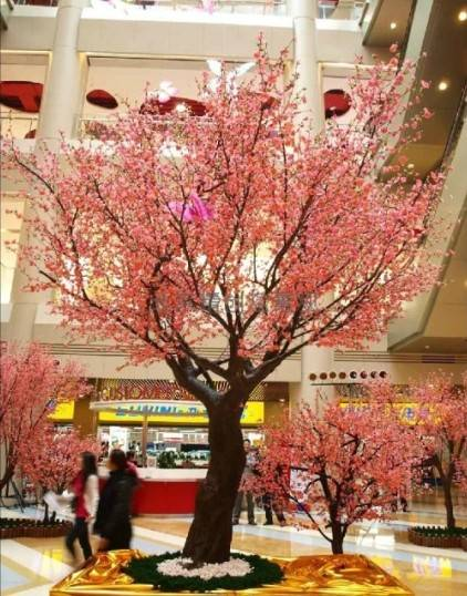 Indoor or outdoor artificial peach blossom tree with favourite price