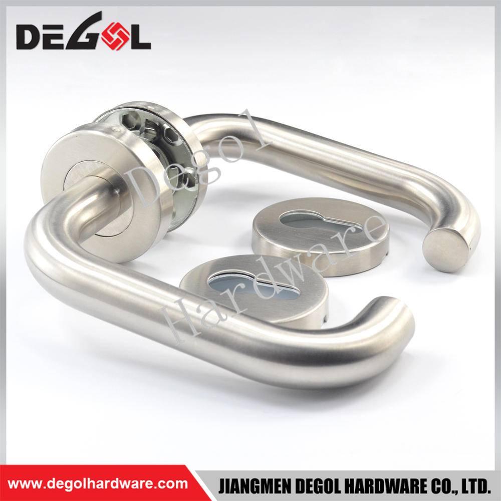 Latest stainless steel tube lever type design passage door handles