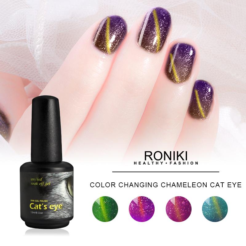 RONIKI Color Changing Chameleon Cat Eye Gel,Colorful Cat Eye Gel,Variety Cat Eye Gel,Cat Eye Gel