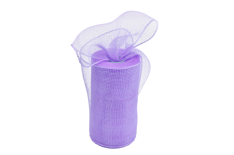"""6""""10y light purple festival gift packing plastic solid mesh for A08R6"""