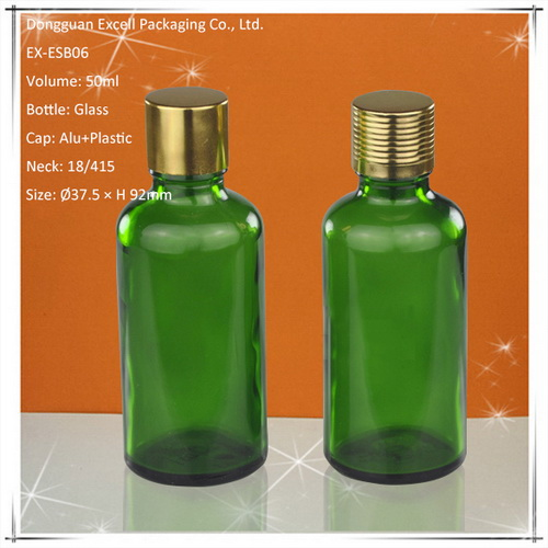 50ml Glass Bottle for Essential Oils with Glass Eye Dropper