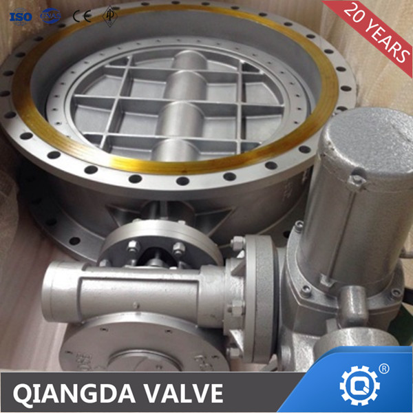 Metal seat double flange triple eccentric water seal butterfly valve