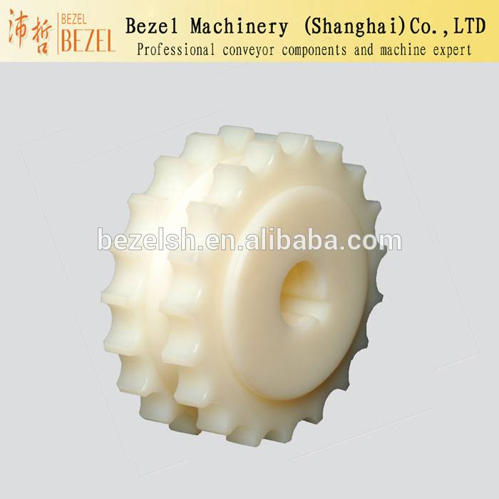 Machined plastic drive sprocket for conveyor chain