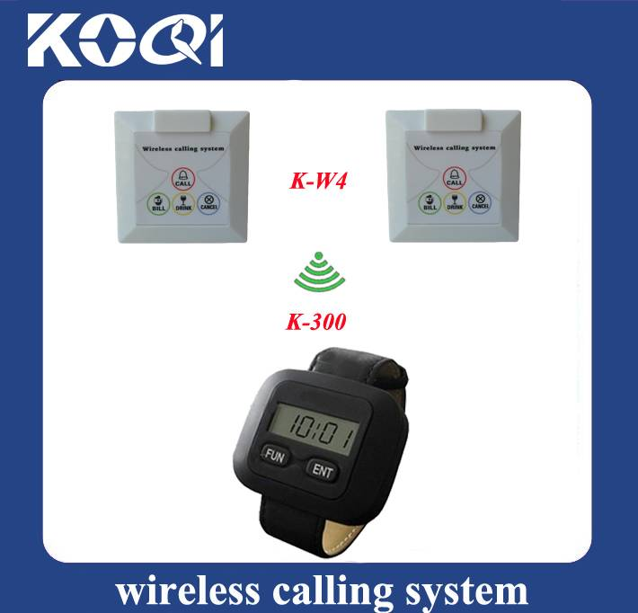 wrist watch pager system K-300+W4 for coffee shop