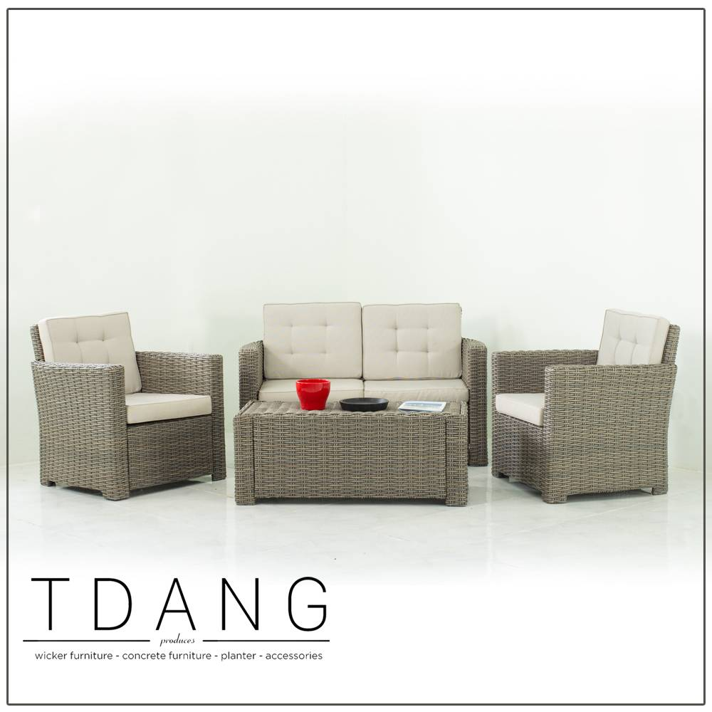 Palm Harbor 4 Piece Deep Seating Group with Cushions (Code TD1017)