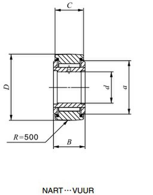 IKO NART 25 VUUR Needle Roller Bearings