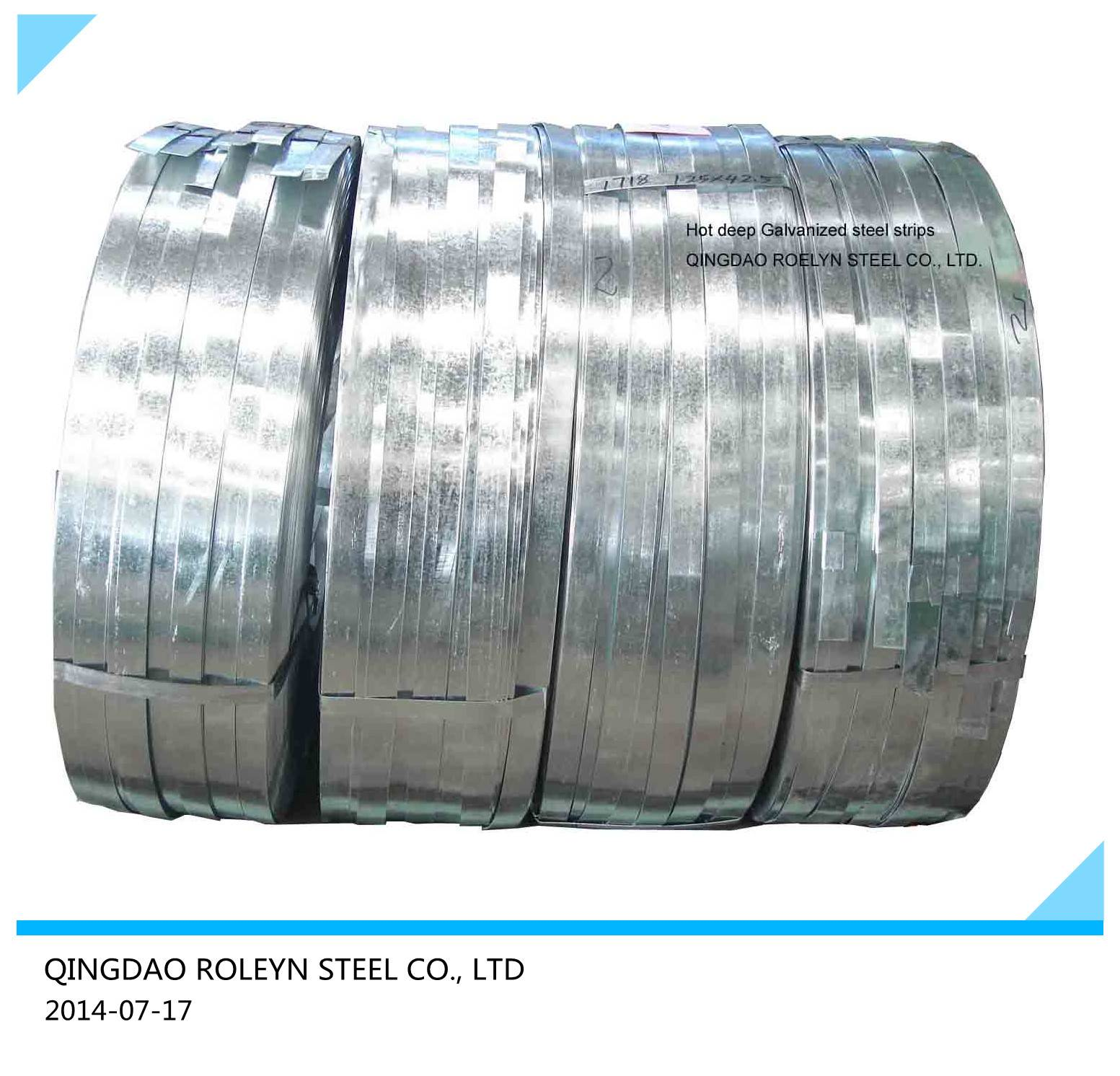 DX51D Z120 Galvanized steel strips