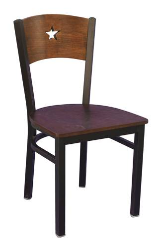 The star back metal chair restaurant chair dinning room chair