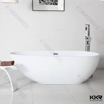 kingkonree solid surface free sample artificial stone bathtub