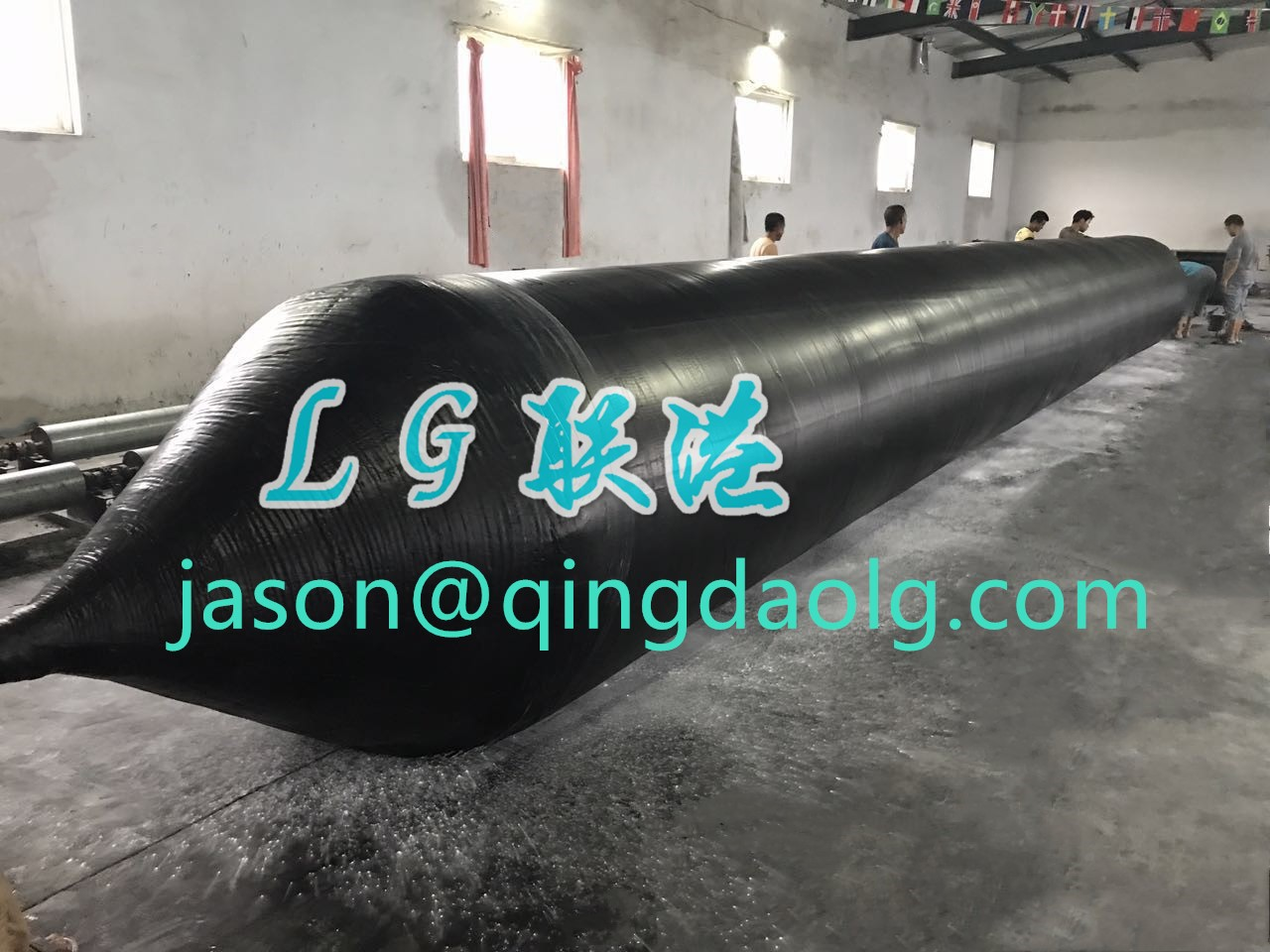 Marine rubber airbags for heavy lifting and salvage