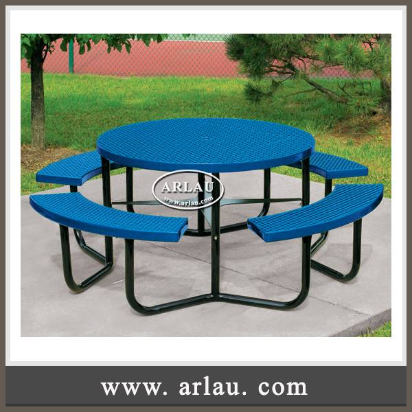 Arlau garden furniture, colorful powder coated table benches,dinning table chairs