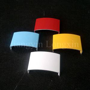 Aluminum profile with different colours of powder coating