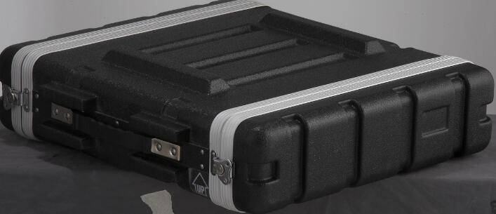 Heavy duty ABS case for 2-unit rack