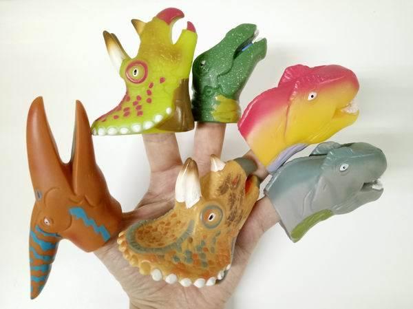Jumbo Dino Head Finger Puppets
