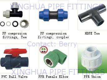 PPR Pipe Fittings, HDPE Pipe Fitting, PP Compression
