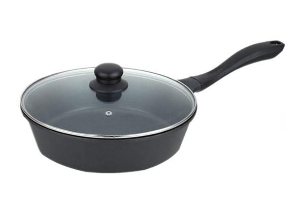 die-cast aluminium deep frying pan