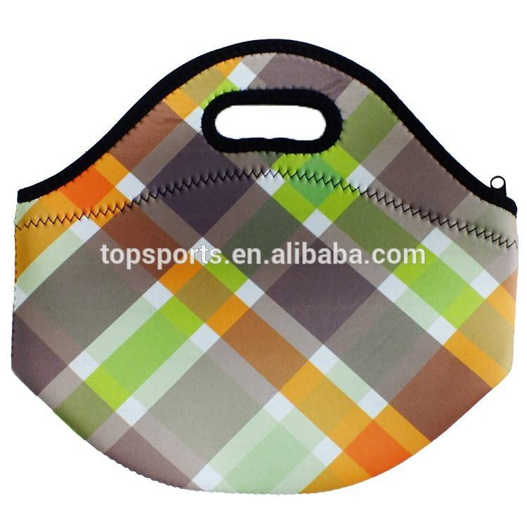 2015 newest design neoprene insulated lunch bag,neoprene food bag