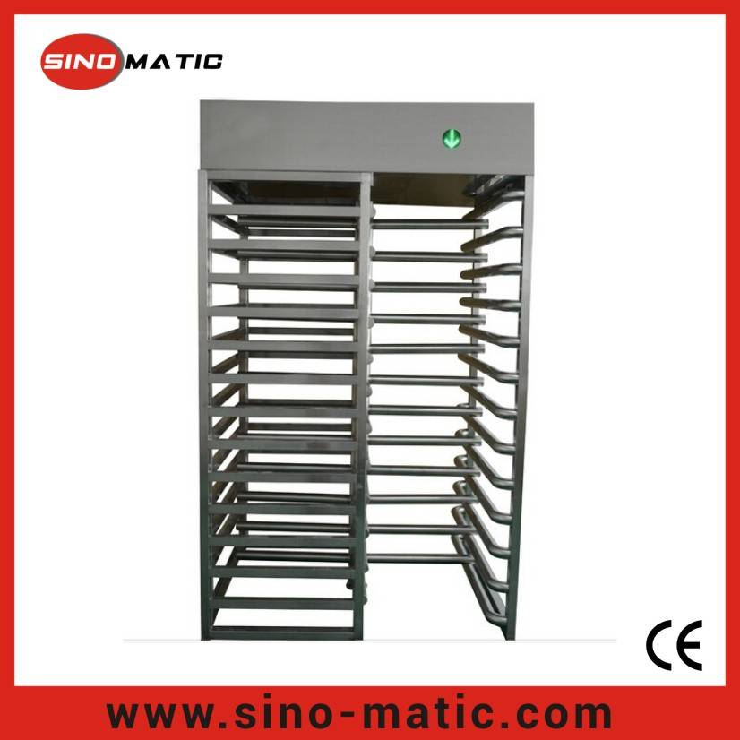 Stainless Steel Security Access Control System Full Height Turnstile