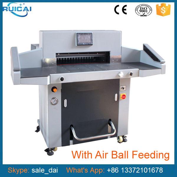 2017 Newest Hydraulic Cutting Paper Machine with Side Glue