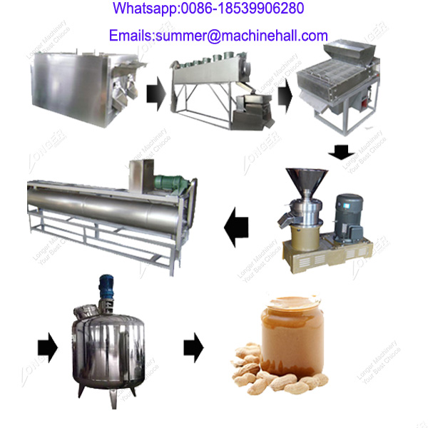 100Kg/h Tahani Almond Peanut Butter Production Line