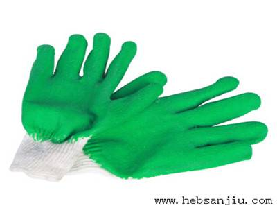 Dipped cotton glove