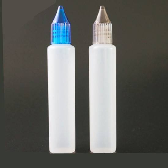 30ml PE Plastic pen shape dropper bottle with childproof cap