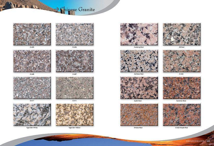 Chinese Granite, tiles & slab