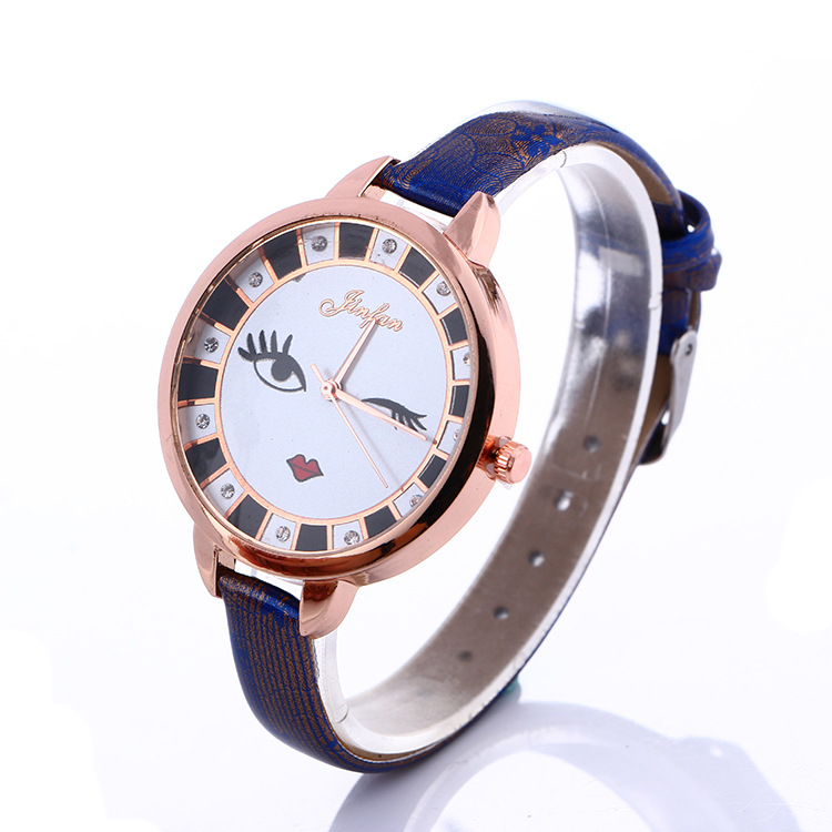 Fashion Style Smiling Face Print Women Trendy Watch