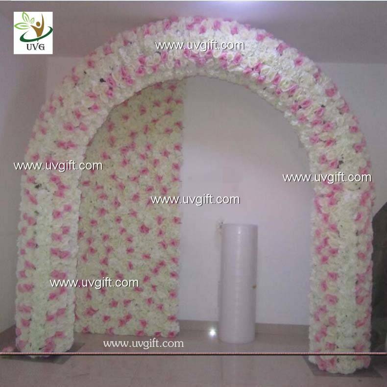 UVG 2.5m artificial rose and hydrangea wedding arch in flowers for event backdrops decor