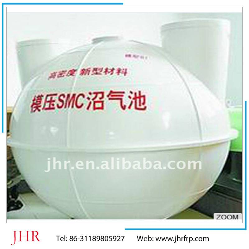 SMC biogas tank for domestic cooking fuel