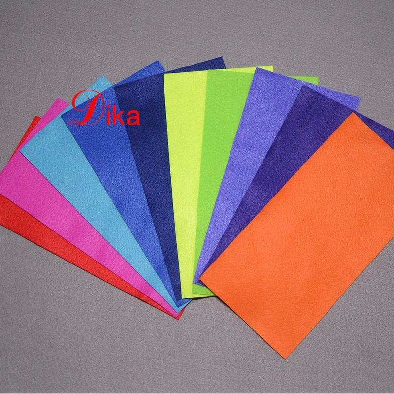 Recycled Eco-friendly bright Colors synthetic craft felt fabric, polyester soft felt nonwoven sheet