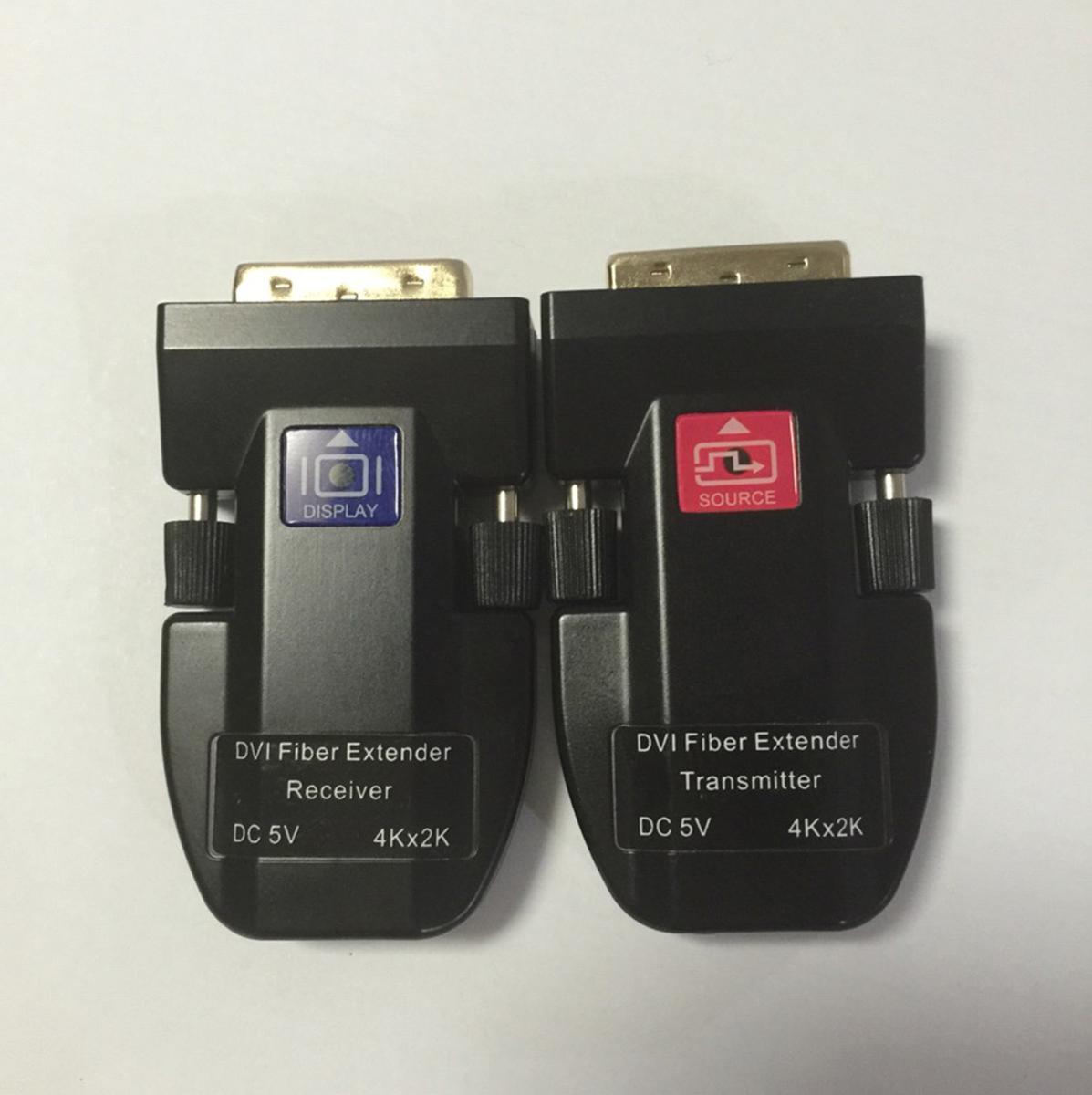 Minitype 4K DVI Fiber Optic Extender
