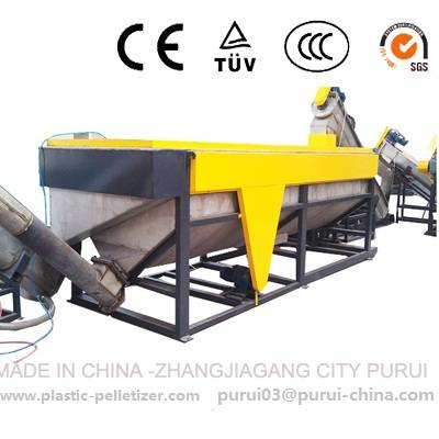 Waste film recycling washing machine
