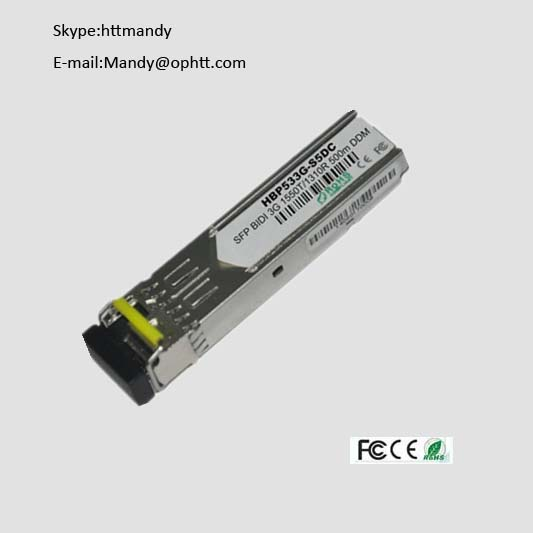 3G 3g 500m single bidi fiber sfp optical module transceiver