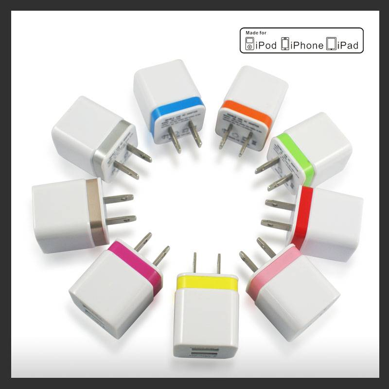 5V 2.1A dual port usb wall charger adapter for iphone ipad ipod Samsung etc