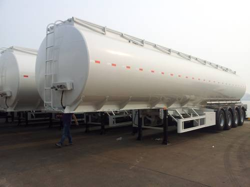 52000L aluminum 4 axle fuel tanker semi trailer with 5 compartment CIVACON vapor recovery system