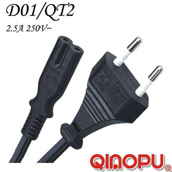 Euro Power Cord with Iec C7 Figure 8 Connector (D01/QT2)