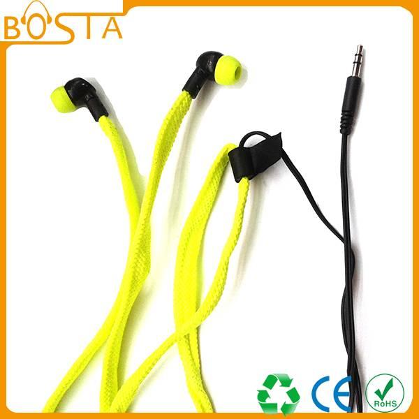 Popular colorful waterproof shoelace earphones