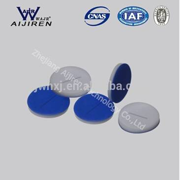 S1044 Pre-slit blue PTFE white Silicone septa CHROMATAGRAPHY LAB CONSUMABLES
