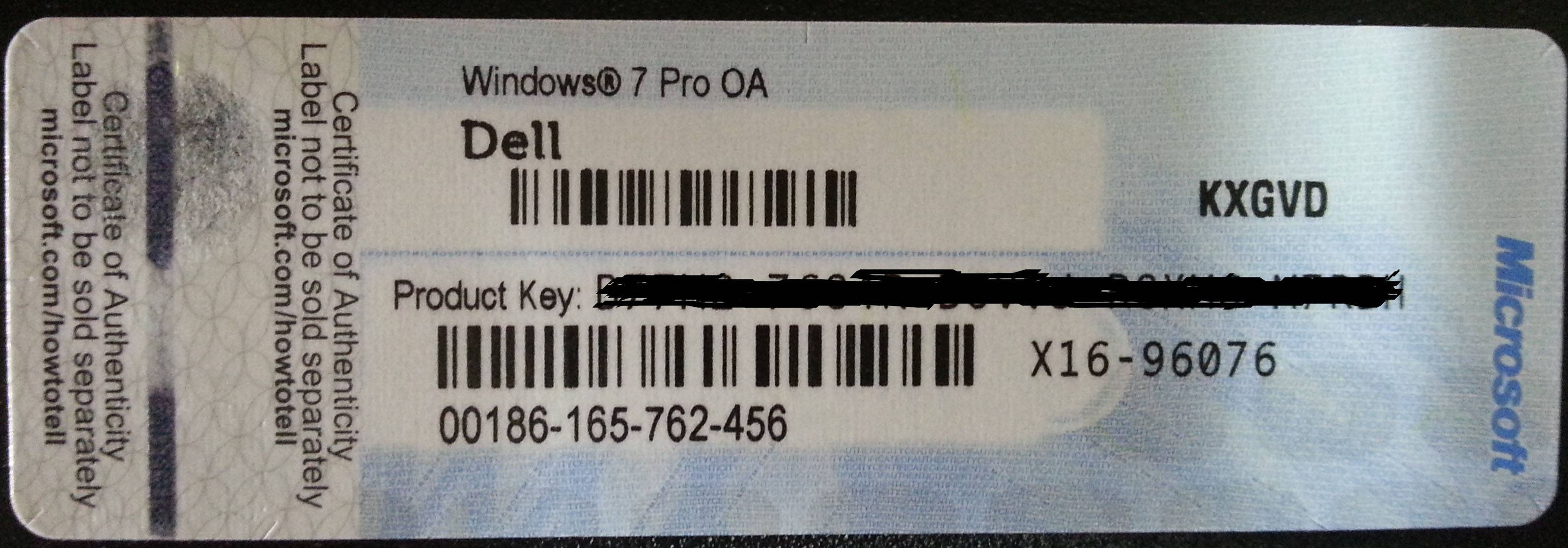 Windows Product Key Sticker Win 10 Pro OEM COA X20 Online Activate 64bit Windows 10 Professional