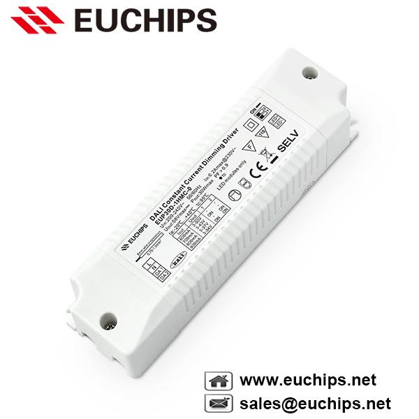 600/700/800/900mA 30W 1 channel DALI constant current dimmable led driver EUP30D-1HMC-0
