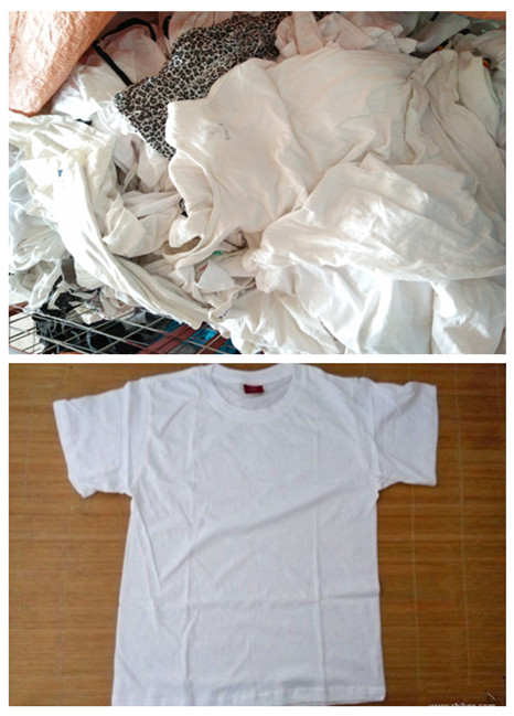used white t-shirt men used clothes sale high quality second hand clothing