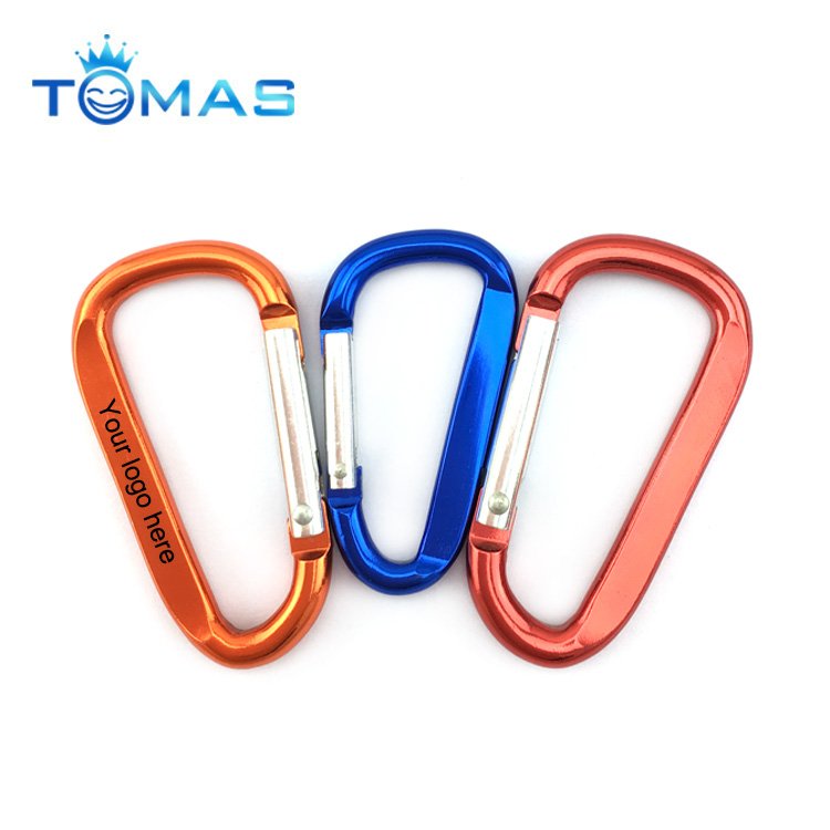 Common shaped aluminum material colorful carabiner