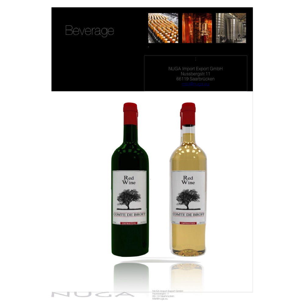 Spanish dry white Wine - 11 % - 0.75 L Bottle - also available as red and rose wine